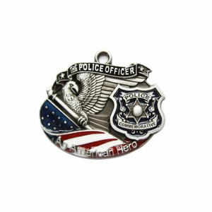 New Vintage Hero Officer Metal Charm Pendant