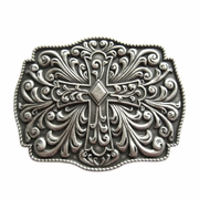 New Vintage Real Silver Plated Western Flowers Belt Buckle Gurtelschnalle Boucle de ceinture