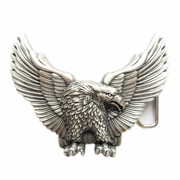 New Vintage Silver Plated American Pride Wild Life Western Eagle Belt Buckle