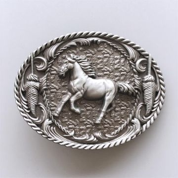 New Vintage Western Horse Rodeo Cowboy Cowgirl Belt Buckle