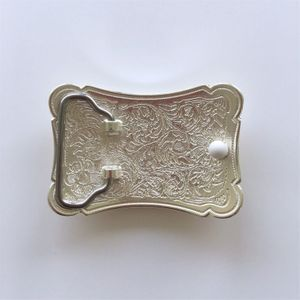 Double Plated Color Western Flower Cowboy Cowgirl Solid Brass Belt Buckle