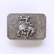 New Vintage Style Western Cowboy Rodeo Rectangle Belt Buckle