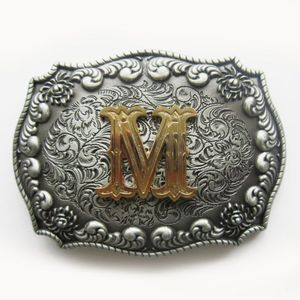 Top Western Cowboy Cowgirl Original Initial Letter Belt Buckle