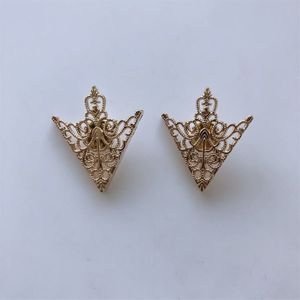 New Arrow Cross Knot Collar Tip Brooch 1 Pair With Screws Double Color Choice