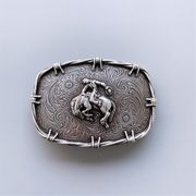 New Vintage Style Western Rodeo Belt Buckle