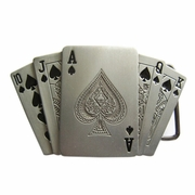 New Jean's Friend Original Royal Flush Spade Casino Lighter Vintage Belt Buckle