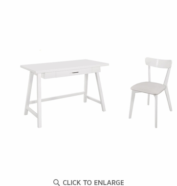 2-Piece Writing Desk and Office Chair set by Coaster 801108