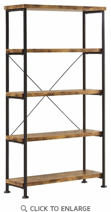 Analiese Industrial Style 4 Shelf Bookcase