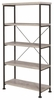 Analiese Industrial Style 4 Shelf Bookcase by Coaster in Grey 801546