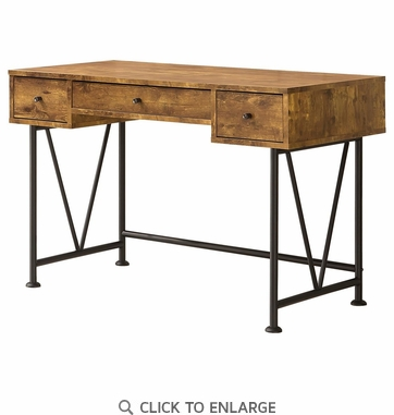 Analiese Industrial Style Writing Desk With 3 Drawers by Coaster 801541