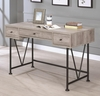Analiese Industrial Style Writing Desk With 3 Drawers