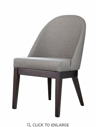 Benton Curved Back Dining Chairs Americano and Light Grey - Set of 2