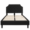 Brighton Full Size Tufted Upholstered Platform Bed in Black Fabric
