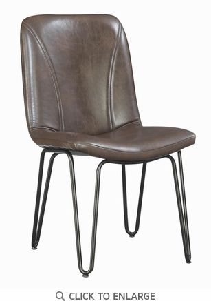 Chambler Brown Industrial Style Dining Chair - Set of 4