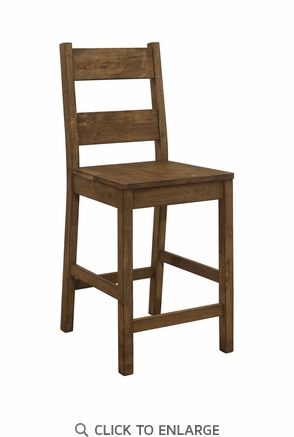 Coleman Counter Height Stools Rustic Golden Brown - Set of 2
