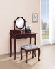 Dark Cherry Make Up Vanity Table and Stool