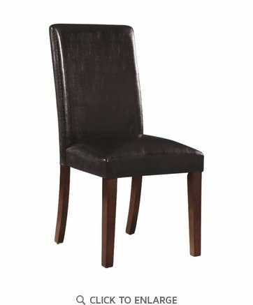 Dining Chair with Black Leatherette Upholstery By Coaster 107702 - Set of 2