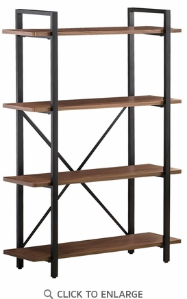 Industrial Style Bookcase With 4 Shelves