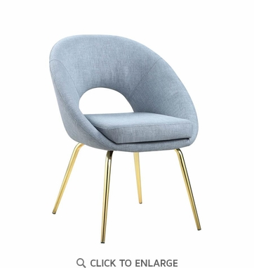 Modern Light Blue Upholstered Dining Chair - Set of 2