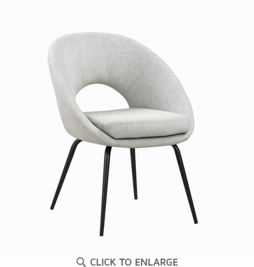 Modern Linen-Like Upholstered Dining Chair - Set of 2