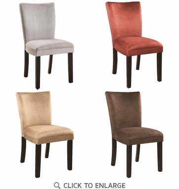 Parson Dining Chairs Taupe Red Brown Grey - Set of 4