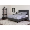 Roxbury Twin Size Tufted Upholstered Platform Bed in Dark Gray Fabric with Pocket Spring Mattress [SL-BM-29-GG]