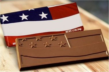 American Flag Style Belgian Chocolate Bars (Case of 50)