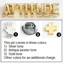 Attitude Is Everything Metal Lapel Pin