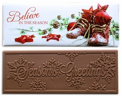 Believe in Santa Belgian Milk Chocolate Bars (Case of 50)
