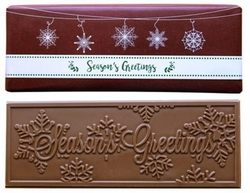 Burgundy Snowflake Belgian Milk Chocolate Bars (Case of 50)
