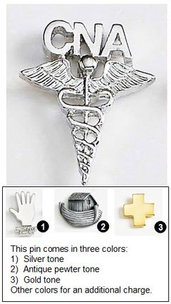Caduceus Metal Lapel Pin for CNAs