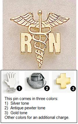 Caduceus Shape Pins for Registered Nurses