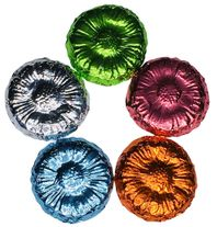 Belgian Chocolate Flowers Foil Wrapped - Case of 250