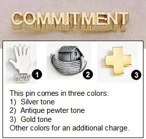 Commitment Metal Lapel Pin - 1.25""