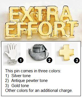 Extra Effort Metal Lapel Pin - 3/4""