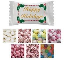 Happy Holidays Wrapped Mints & Candies - Case of 1000