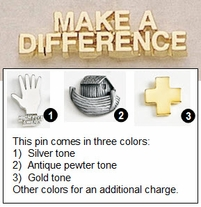 """Make A Difference Metal Lapel Pin - 1.25"""""""