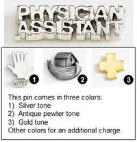 Metal Lapel Pin for Physicians Assistants - 1""