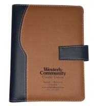 "Custom Padfolio Planner with Magnetic Closure - 7""w x 9""h"