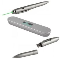 Rechargeable Green Laser Pointer & Pen Logo Gift