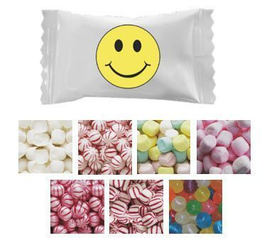 Smiley Face Mints & Candies - Case of 1000