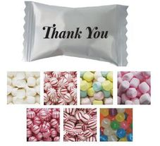 Thank You Imprinted Wrapped Mints & Candies - Case of 1000