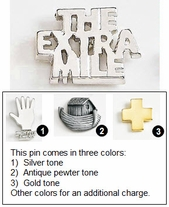 The Extra Mile Metal Lapel Pin
