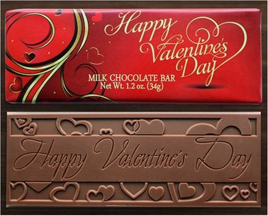 Valentine's Day Belgian Milk Chocolate Bars (Case of 50)