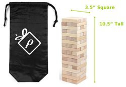 Wooden Stacking Puzzle with Logo Bag