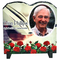 Slate Tablet Photo Plaque with stand 7.87in x 7.87in
