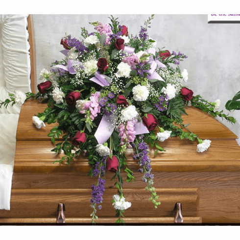 Touch of Lavender Casket Spray