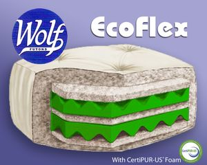 Wolf EcoFlex - Medium Soft Futon Mattress