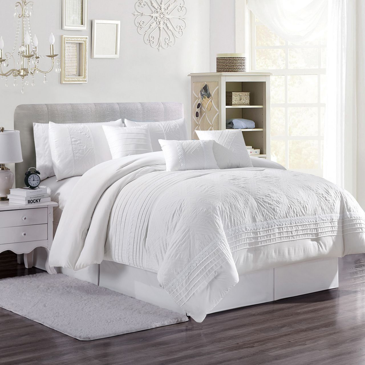 Comforter Set Queen White Galdierocostantino Com