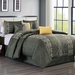 7 Piece Audri Charcoal Comforter Set Queen